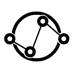 データ analytics インターフェース接続円無料アイコンのシンボル