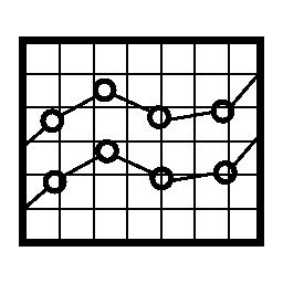 ボックス化されたライン株式グラフィック無料アイコン