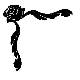 ローズと枝花飾り無料アイコン