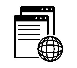 グローバル ウィンドウ インタ フェース シンボル無料アイコン