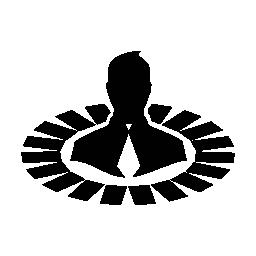 ユーザー データ analytics シンボル無料アイコン