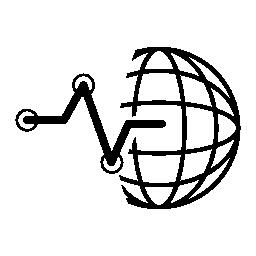 Web 株式データ ライン グラフィックインタ フェース シンボル無料アイコン