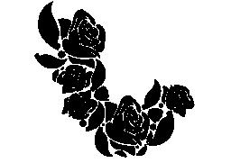 バラ無料アイコンの花飾り