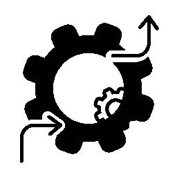 フロー インタ フェース シンボルの無料アイコンを設定
