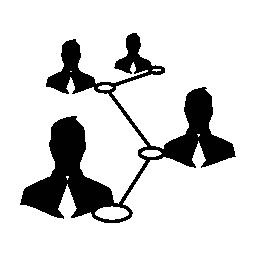 ユーザーを相互に接続された無料アイコン