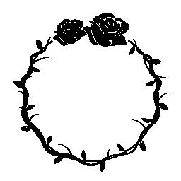 円形の花装飾用フレーム無料アイコン