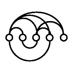 データ ループ インタ フェース シンボル無料アイコン