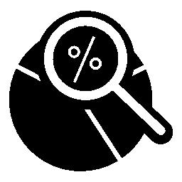 円グラフ分析インタ フェース シンボル無料アイコン