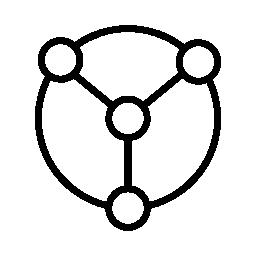 データ接続された円形のグラフィック インター フェース シンボル無料アイコン