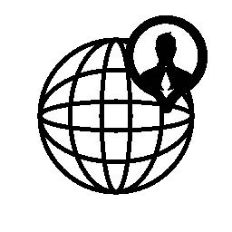 グローバル ユーザ インタ フェース シンボル無料アイコン