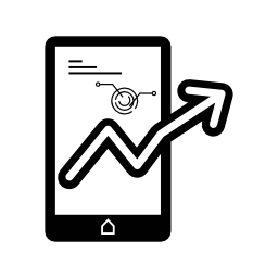 モバイルの株価データ分析無料アイコン