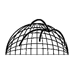 球形グリッド無料アイコン データ analytics ライン