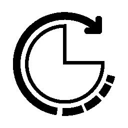 データ分析グラフ インタ フェース シンボル無料アイコン