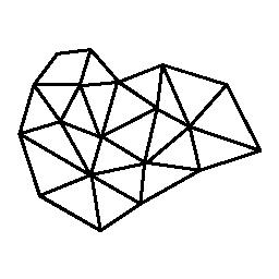 三角形の無料アイコンの多角形のグラフ