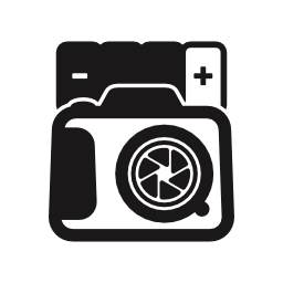 写真をカメラの電池無料アイコン