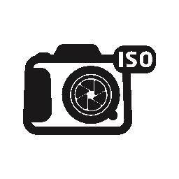 写真カメラ ISO シンボル インターフェイス無料アイコン