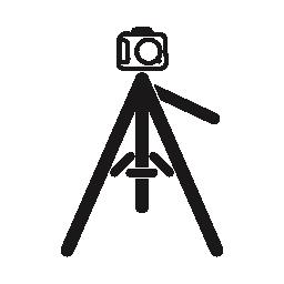 写真のカメラの三脚の無料アイコン