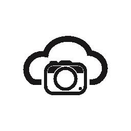 インターネット クラウド シンボル無料アイコンの写真カメラ
