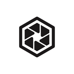 六角形ダイヤフラム形状インタ フェース シンボル無料アイコン
