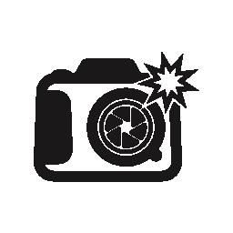 写真カメラ無料アイコンをフラッシュ ライト