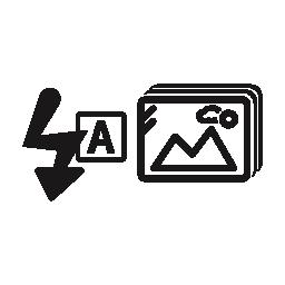 写真情報シンボル無料アイコン