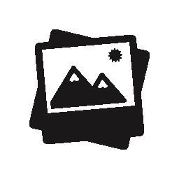山の風景無料アイコンと写真インタ フェース シンボル