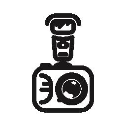 写真のカメラ フラッシュ無料アイコン