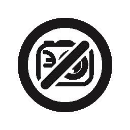 写真カメラ禁止無料アイコンのシンボルを使用できません。