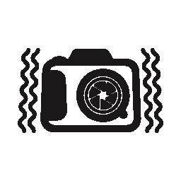 側面無料アイコンで活気のあるラインと写真カメラ