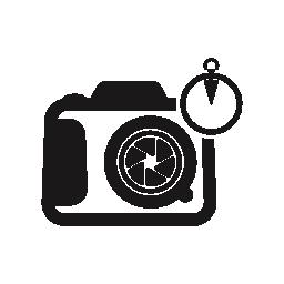 円記号の無料アイコンと写真カメラ
