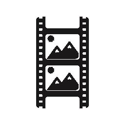 写真フィルム フォトグラム風景無料アイコン