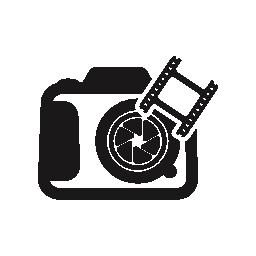 フィルム ストリップ フォトグラム無料アイコンと写真カメラ