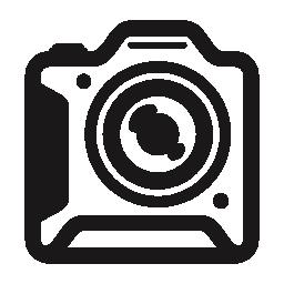 写真カメラ、正方形のアウトライン バリアント無料アイコン