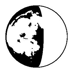 月三日月形段階シンボル無料アイコン