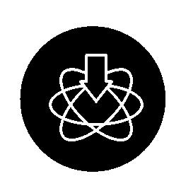 サークル無料アイコンで科学受信トレイ シンボル