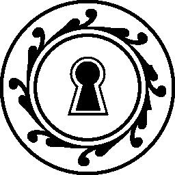 円形鍵穴形状無料アイコン