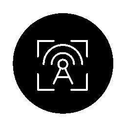 サークル無料アイコンで無線のターゲット アウトライン記号