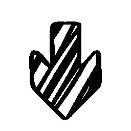 下矢印無料アイコンのスケッチ