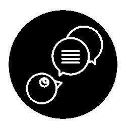 吹き出しの概要サークル無料アイコンのシンボル