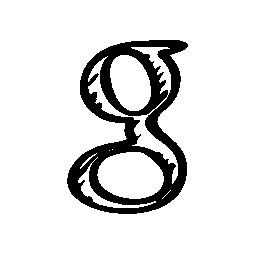 Google スケッチ社会手紙ロゴ無料アイコン