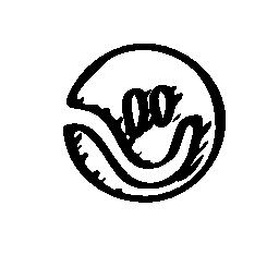 フレンド スター スケッチ社会ロゴ無料アイコン