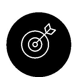 サークル無料アイコンでターゲット アウトライン記号