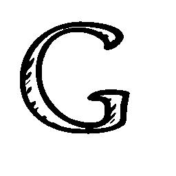 Google G スケッチ社会文字アウトライン シンボル無料アイコン