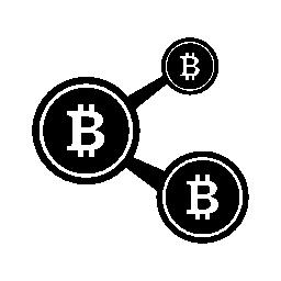Bitcoin ネットワーク無料アイコン