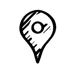 ピン スケッチ社会的シンボル無料アイコン