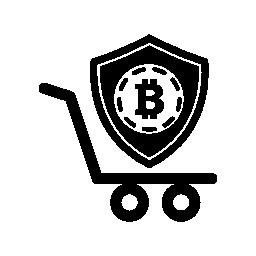 Bitcoin 安全シールド シンボル無料アイコンのショッピング