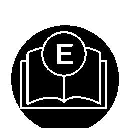 サークル無料アイコンで電子書籍概要インタ フェース シンボル