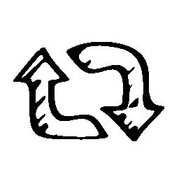 スケッチ更新矢印記号無料アイコン