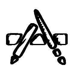 アプリのスケッチのロゴの無料アイコン