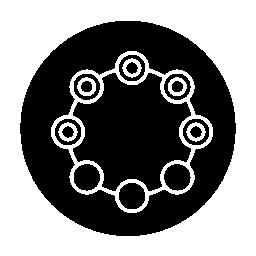 サークル サークル概要インターフェイス円形シンボル無料アイコン